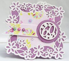 Tonic Studios - Cutting Die - Daisy Lace Square Doily Intrica Die Set (set of 4 dies) Big Birthday Cards, Tonic Cards, Studio Cards, Shaped Cards, Die Cut Cards, Lace Doilies, Flower Cards, Craft Tutorials, Tea Party