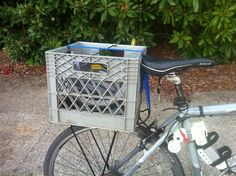 Easy Removable Milk Crate for a Bike