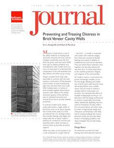 Preventing and Treating Distress in Brick Veneer Cavity Walls Masonry Construction, Architects Journal, Brick Masonry, Cavities, Flexibility, Old Things, Walls, Back Walkover, Brickwork