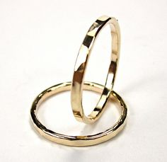 One Gold Filled Knuckle Ring Textured Ring 14K by ClintonStudios, $14.00