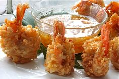 Beer-Battered Coconut Shrimp with Orange-Ginger Marmalade