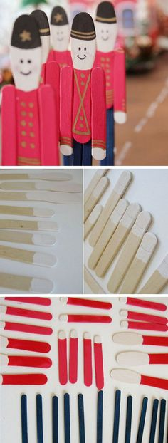 Popsicle Stick Soldier Ornament | Click for 25 DIY Christmas Crafts for Kids to Make | DIY Christmas Decorations for Kids to Make