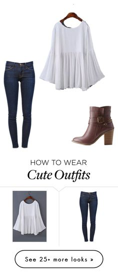 """Cute fall outfit"" by caligirl43 on Polyvore featuring Frame Denim and Charlotte…"