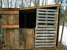 Goat House - pallet door