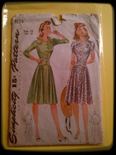 40s Sewing Pattern £4 - RESERVED