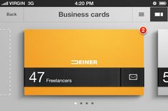 Business card organizer iphone app