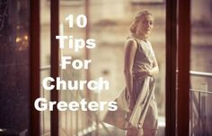 """Smile. Fresh breath. Make eye contact Take initiative and greet. Don't ask """"Are you new?"""" Don't ask """"Is this your first time?"""" Offer a bulletin if your church uses them. Personal warmth — look like you enjoy welcoming people. Say """"I don't think I've met you yet, I'm {insert your name here}"""" If they are new, offer to show them where the restrooms are and offer information about childcare if necessary."""