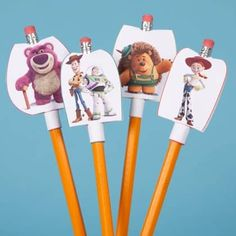 Toy Story Pencil Toppers - Free Disney Back to School Printables Toy Story Crafts, Movie Crafts, Toy Story 3, Toy Story Party, Walt Disney, Disney Toys, Disney Crafts, Disney Family, Disney Frozen