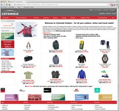 Cotswold Outdoor - 2006 website screenshot