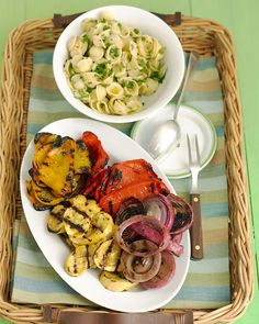 Mixed Grilled Vegetables - don't forget to soak your skewers!