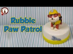 "Rubble from ""Paw Patrol"" out of fondant cake topper- Rubble in pasta di zucchero…"