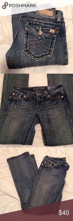 💁 Miss Me Stella Boot Jean Miss Me jean in Stella Boot! Light blue wash. Petite length. Miss Me Jeans Boot Cut