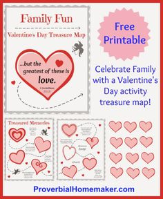 Free Printable: Valentine's Day Treasure Map by ProverbialHomemaker.com