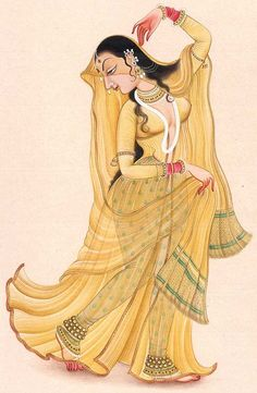 Delight in Dancing, Mughal Miniature Painting On Paper Mughal Paintings, Dance Paintings, Indian Art Paintings, Oil Paintings, Landscape Paintings, Abstract Paintings, Rajasthani Miniature Paintings, Rajasthani Painting, Krishna Painting