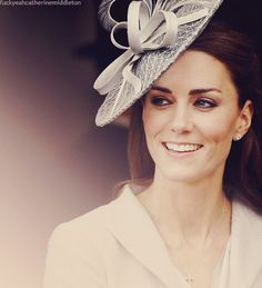 Kate Middleton in a Philip Treacy hat.