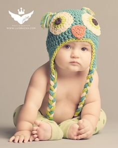 owl earflap hat... by VineStreetGoods