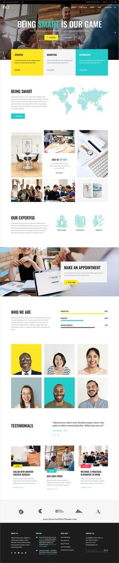 Pxlz is clean and modern design responsive multipurpose #WordPress theme for creative #designers, #agencies #portfolio showcase website with 15+ niche homepage layouts to live preview & download click on Visit 👆