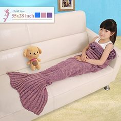 [$8.99 save 57%] Amazon #LightningDeal 51% claimed: Mermaid Tail Blanket For Kid Lotus Leaf Warm Soft Handcraft... http://www.lavahotdeals.com/ca/cheap/amazon-lightningdeal-51-claimed-mermaid-tail-blanket-kid/187500?utm_source=pinterest&utm_medium=rss&utm_campaign=at_lavahotdeals