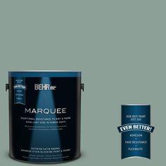 BEHR MARQUEE 1-gal. #QE-44 Eucalyptus Satin Enamel Exterior Paint