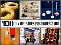 100 DIY Upgrades for Under $100 via @kwnhq