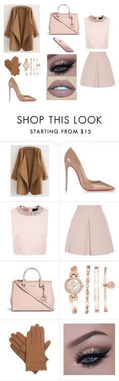 """""""Untitled #156"""" by samantha2202 ❤ liked on Polyvore featuring WithChic, Christian Louboutin, Ted Baker, Alexander McQueen, Michael Kors, Anne Klein and Isotoner"""