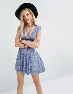 Denim+&+Supply+By+Ralph+Lauren+Fit+And+Flare+Dress+With+Cut-Out+Back+In+Floral+Print