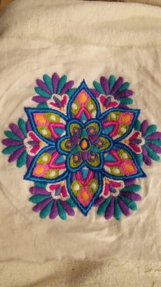 Resultado de imagen para bordado mexicano patrones Hand Embroidery Dress, Mexican Embroidery, Hand Embroidery Videos, Embroidery Works, Simple Embroidery, Crewel Embroidery, Hand Embroidery Patterns, Embroidery Kits, Machine Embroidery Designs