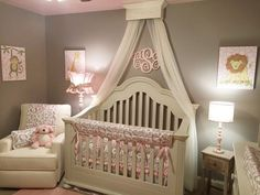 Bed Crown Canopy Crib Crown Nursery Design par TheChicDecorShop