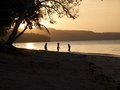 Sunset on the beach in Vanuatu, where today is Father Lini Day.  Been to Vanuatu?  Come rate and review it at DestinationRecommended.com/destinations/Vanuatu.  #Vanuatu #travel #tourism #rating #review