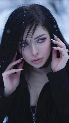 Aesthetic People, Aesthetic Girl, Beautiful Girl Image, Beautiful People, Goth Beauty, Model Face, Digital Art Girl, Pretty Eyes, Interesting Faces