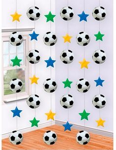 Amscan Party Decoration Home, Furniture & DIY Diy Birthday Gifts For Friends, Soccer Birthday Parties, Soccer Party, Birthday Party Themes, Balloon Prices, Party Fiesta, Party Party, Party Ideas, Football Banner