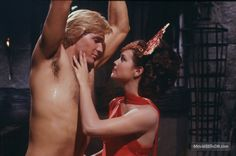 A gallery of Flash Gordon publicity stills and other photos. Featuring Sam Jones, Ornella Muti, Timothy Dalton, Melody Anderson and others. 1980's Movies, Cult Movies, Movie Tv, Films, Sam J Jones, Ornella Muti, Max Von Sydow, Timothy Dalton, Couples