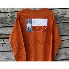 University of Texas Shirt//UT Shirt//University of Texas//Texas Shirt// Texas… Ut Shirts, Texas Shirts, Texas Longhorns Shirts, Ut Longhorns, Texas Outline, Orange Texas, University Of Texas, Outfit Goals, Rain Jacket
