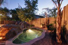 Backyard: Hello Huge Private Spa! Love it.
