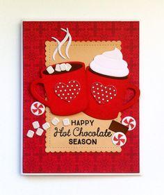 Card christmas cup mug cocoa hot drink candy sweets MFT Hot cocoa Cups Die-namics Happy Hot chocolate Season #mftstamps Hug in a Mug - JKE