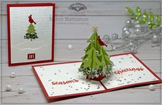 Karen Burniston using the Christmas Tree Pop-up, Wiinter Charms, Nature Edges and Word Set 3 die sets from karenburniston.com