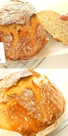 Best No Knead Bread Recipe - Irresistibly Delicious Crispy Homemade No Knead Bread! Wow your guest by making this Artisan Bread for your next gathering. Italian Bread Recipes, Artisan Bread Recipes, Dutch Oven Recipes, Easy Bread Recipes, Baking Recipes, Soup Recipes, Kefir Recipes, Cornbread Recipes, Jiffy Cornbread