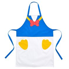 I want this for all the times I cook! Disney Diy, Disney Crafts, Mickey Mouse Photo Booth, Disney Store Japan, Japan Store, Disney Aprons, Baby Christmas Photos, Donald And Daisy Duck, Cute Aprons