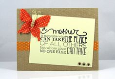 Mothers Day Card Handmade Blank Inside by CardsToInspire on Etsy