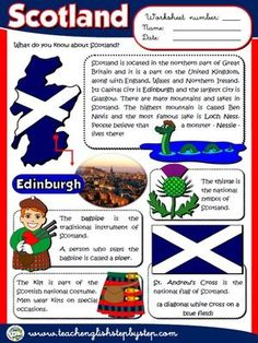 Scotland - Worksheet