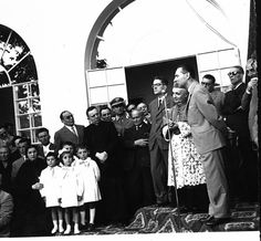1958 - posa prima pietra nuova scuola materna Monteforte d'Alpone