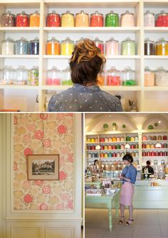 One of the cutest places in San Francisco--Miette Candy Store