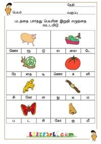 Beginning Consonants Worksheets,Tamil Teachers Resources,Printable Activity Sheets Handwriting Worksheets For Kindergarten, Worksheets For Grade 3, Preschool Learning, Kindergarten Worksheets, Alphabet Worksheets, Printable Worksheets, Toddler Preschool, Kids Writing, Writing Skills