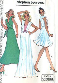 Vintage 70s McCalls 1092 Misses UNCUT Knit Wrap Top by RomasMaison