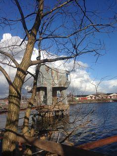 The Public Sauna on the Docks in Gothenburg, Sweden