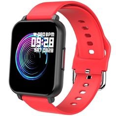 Android Smart Watch - The Full Touch Screen T82 Smart Watch With Fitness Tracker. - T82 Red