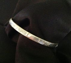 Vintage Sterling Silver Decorative Bangle Bracelet by VintageVelvetBox on Etsy
