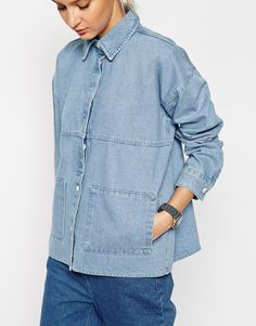 Image 3 ofASOS WHITE Bleach Denim Jacket