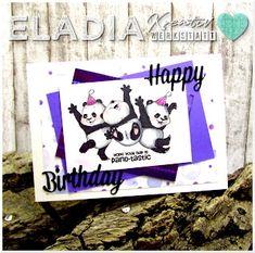 Birthday Card Panda Birthday Cards, Happy Birthday, Funny Farm, Decor, Pandas, Homemade, Birthday, Funny, Cards