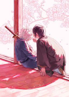 Gintama Wallpaper, Anime Friendship, Beautiful Drawings, Anime Ships, Touken Ranbu, Art Sketchbook, Macabre, People Art, Concept Art